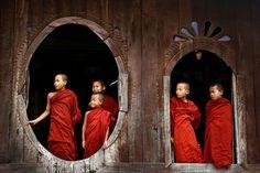 Buddhist novices, Myanmar