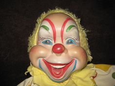 Vintage Rushton Star Creation Clown Stuffed Toy by annemarieaustin