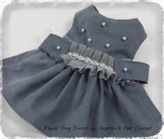 Royal Dog Dress XSS... Pet Glamour Pet by SophiesPetCloset