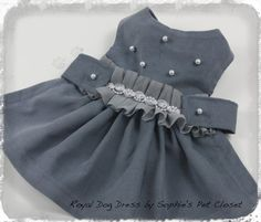 Royal Dog Dress  XSSMLXL  Pet Glamour Pet by SophiesPetCloset, $45.00