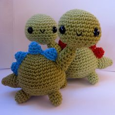 Amigurumi Dinosaur - PDF Crochet Pattern by anapaulaolion Etsy, $3.00 (for the adopt a monsters)
