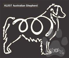 K Line Australian Shepherd Dog Window Decal Tattoo