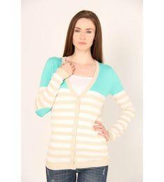 t/o Sweaters Striped Cardigan Sweater - Sweaters - Juniors #VFOFallFashions