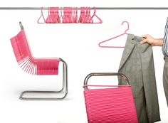 how clever dressing rooms for retail clothing | Coat Check is a chair design that seeks to encourage people to hang ...