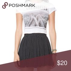 Brandy Melville Black Polka Dot Skirt Skirt is in excellent condition. Top in second picture is available in another listing. Brandy Melville Skirts Mini