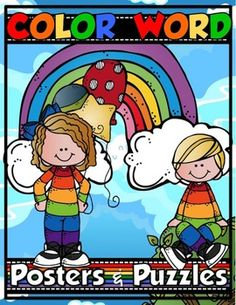 Your students are going to LOVE these fun, vibrant COLOR WORD POSTERS! They will not only enjoy looking at them, but they will also LOVE learning all of the real-life examples found on each poster. Just print the posters on cardstock, laminate them for durability, and hang them up!The COLOR WORD PUZZLES included in this set add a nice dimension to your students' COLORFUL learning.