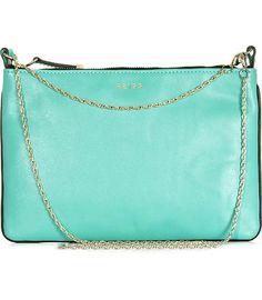 turquoise chain strap handbag/purse/clutch