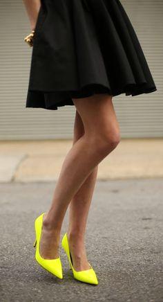 Get neon heels!