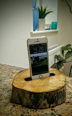 Wooden charging dock iPhone charging station by NatureTech