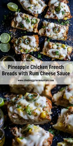 pineapple-chicken-french-breads-with-rum-cheese-sauce