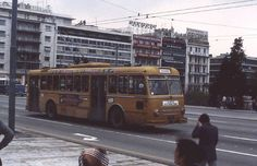 Lancia trolleybus in Athens Spa, Athens Greece, Old City, Capital City, Old School, Automobile, The Past, Old Things, Around The Worlds