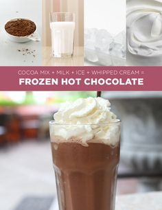 Frozen Hot Chocolate | 11 Simple Holiday Treats You Can Make In Four Ingredients Or Fewer