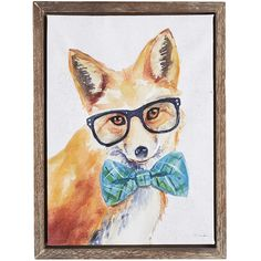 You probably knew foxes were clever, but did you realize they're smart dressers, too? Donning glasses and a bow tie, our painted red fox looks quite…