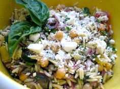Orzo Salad - This is delicious, I've been making it for years, wonderful orzo salad!