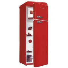 Schaub Lorenz Sl208DDR Réfrigérateur Vintage Rouge Deux Portes 208 litres Achat / Vente Réfrigérateur A+ pas cher - RueDuCommerce