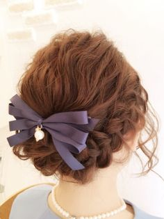 Pretty Hairstyles, Braided Hairstyles, Hair Arrange, Hair Setting, Ribbon Bows, New Hair, Hair Makeup, Braids, Hair Cuts