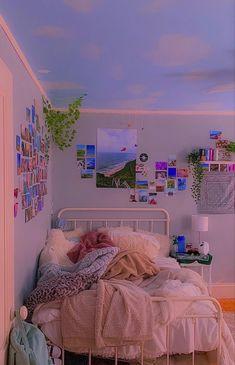 Neon Bedroom, Indie Bedroom, Indie Room Decor, Cute Bedroom Decor, Aesthetic Room Decor, Room Ideas Bedroom, Bedroom Inspo, Dream Rooms, Dream Bedroom
