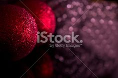 Fotografía Gema Ibarra: Christmas baubles decoration on defocused lights background by Gema Ibarra at Istock