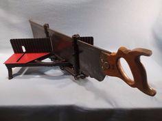 Craftsman Vintage Cast Iron Miter Box 3650 & Saw (Miller Falls Langdon Acme…