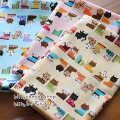 A personal favorite from my Etsy shop https://www.etsy.com/listing/232436137/w11645-cats-fabrics-3-color-to-choose-in