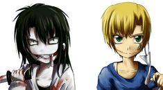 request: jeff the killer and liu by Okamewing.deviantart.com on @deviantART
