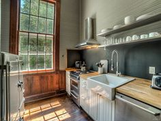 This former schoolhouse may look all Little House on the Prairie on the outside…