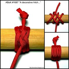 "a decorative hitch from ""The Ashley Book of Knots"" ~Stormdrane's Blog"