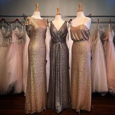 """62 Likes, 16 Comments - The Steel Magnolia (@thesteelmagnoliabridal) on Instagram: """"Have you seen our Sorella Vita bridesmaid's gowns? In Rose gold, gold, platinum, onyx, and…"""""""