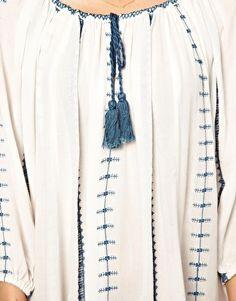 Enlarge Ganni Embroidered Smock Dress