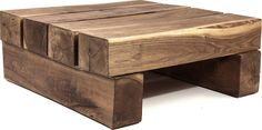 Remind you of anything? The Beam Coffee Table instantly brings to mind childhood games like Jinga and Lincoln Logs, but on a much grander scale. A great conversation piece, it is simply six hardwood b