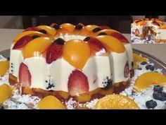 Gelatina de Queso Crema Rellena de Frutas Naturales