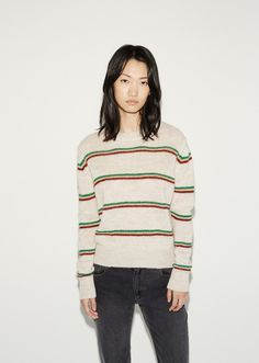 Isabel Marant's diffusion line has been channeling effortless Parisian cool since 1999. An ultra-easy striped sweater, knit in a breathable loose stitch from an