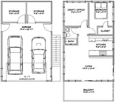 20x32 House -- #20X32H6U -- 808 sq ft - Excellent Floor Plans
