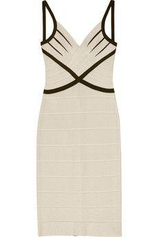$366.00    Herve Leger Annette bandage White/red dress