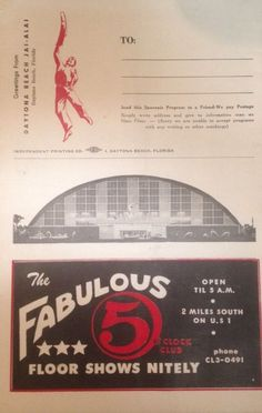 RARE Vintage Jai Alai 1962 Daytona Beach Official Program | eBay