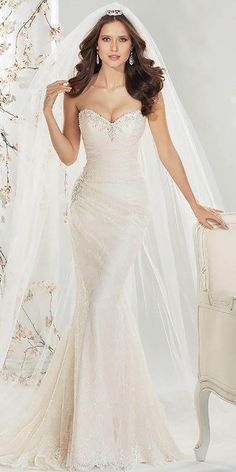 Best Sophia Tolli Wedding Dresses ❤ See more: http://www.weddingforward.com/sophia-tolli-wedding-dresses/ #weddings