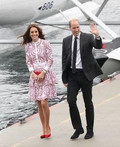 Catherine, Duchess of Cambridge and Prince William, Duke of Cambridge after they arrive by sea plane at the Vancouver Harbour Flight Centre during their Royal Tour of Canada on September 25, 2016 in Vancouver, Canada.
