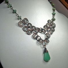 DIY Bijoux  The Egytian Coil Necklace Tute  Katalina Style.   #Wire #Jewelry #Tutorial
