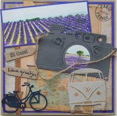 De Lage Hoeve: Op reis  naar de Provence Travel Scrapbook, Scrapbook Pages, Collage, Marianne Design, Scrapbooking, Big Shot, Masculine Cards, Art Sketches, Joy