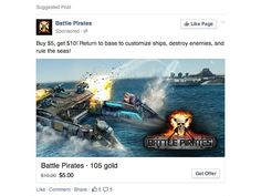 Facebook Updates Desktop App Ads To Allow For Direct Sales Of Virtual Goods #facebook