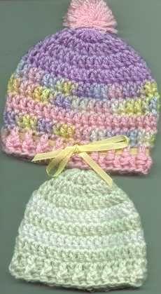 Bev's Easy Round Baby Hat - preemie