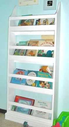 Book rack do it yourself from Ana White for kids room.