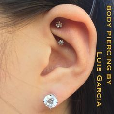 Healed rook with an @anatometalinc J curve featuring clear CZ flower clusters #piercing #bodypiercing #philly #philadelphia #southstreet #AssociationofProfessionalPiercers #appmember #safepiercing #NoKaOiBodyPiercing #thepiercingsociety #instagood #instacool #jewelry #bodyjewelry #picoftheday #mybodymod #legitpiercingslook #legitbodyjewelry #bodyartrevolution #anatometal #rook  (at No Ka Oi Tiki Tattoo)