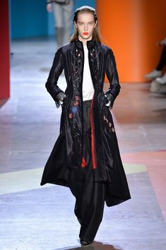 A model walks the runway during the Shiatzy Chen show as part of the Paris Fashion Week Womenswear Fall/Winter 2018/2019 on March 5, 2018 in Paris, France.