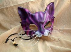 Cheshire Cat Leather Alice in Wonderland Cosplay Mask.