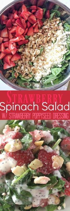 Strawberry Spinach Salad {w/ Strawberry Poppy Seed Dressing} - Together as…