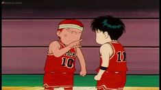 Hanamichi Sakuragi and Rukawa - Slam Dunk Slam Dunk Anime, Anime Fantasy, Anime Artwork, Slammed, No One Loves Me, Haikyuu, First Love, Geek Stuff, Blush