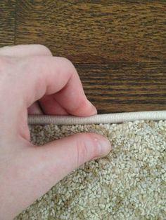How to bind a carpet remnant for an inexpensive large area rug.