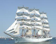 Tall ships in Boston Harbor