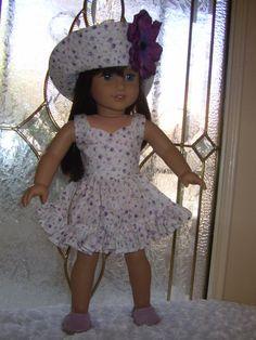 American Girl doll Clothes OOAK 3 piece dress von FrillyFrillz